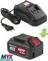 Set Batteria+Caricabatteria MYX  CKT 2040