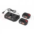 Kit 2 Batterie CKT 2044 DUAL+caricabatteria doppio