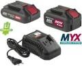 Set 2 Batterie al litio+Caricabatteria MYX  CKT 2042